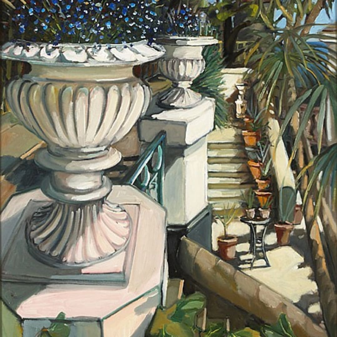 'Strawberry Hill Urns' oil on canvas by Gerard Byrne, 1998