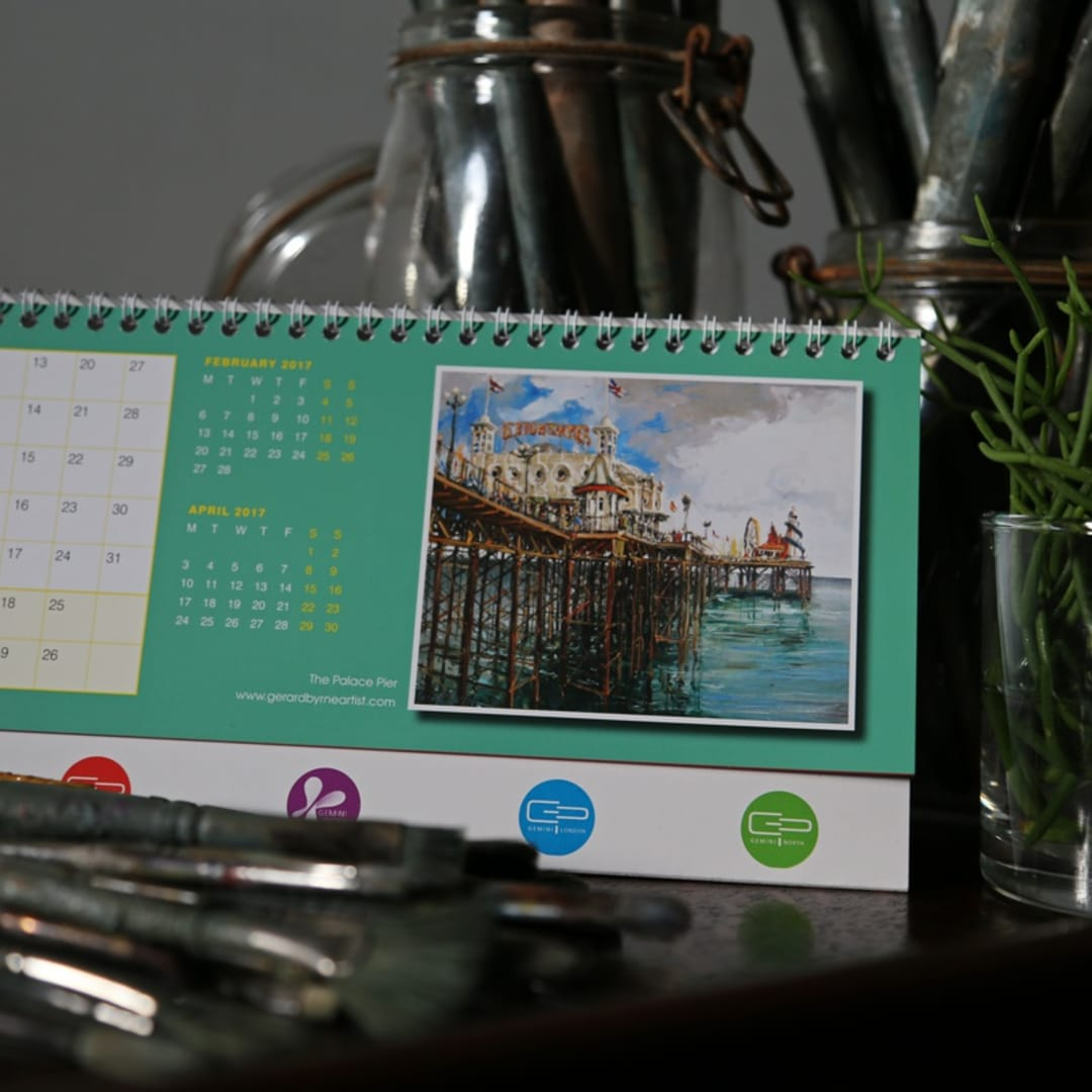 Gemini's 2017 charity calendar MARCH, 'The Palace Pier' by Gerard Byrne