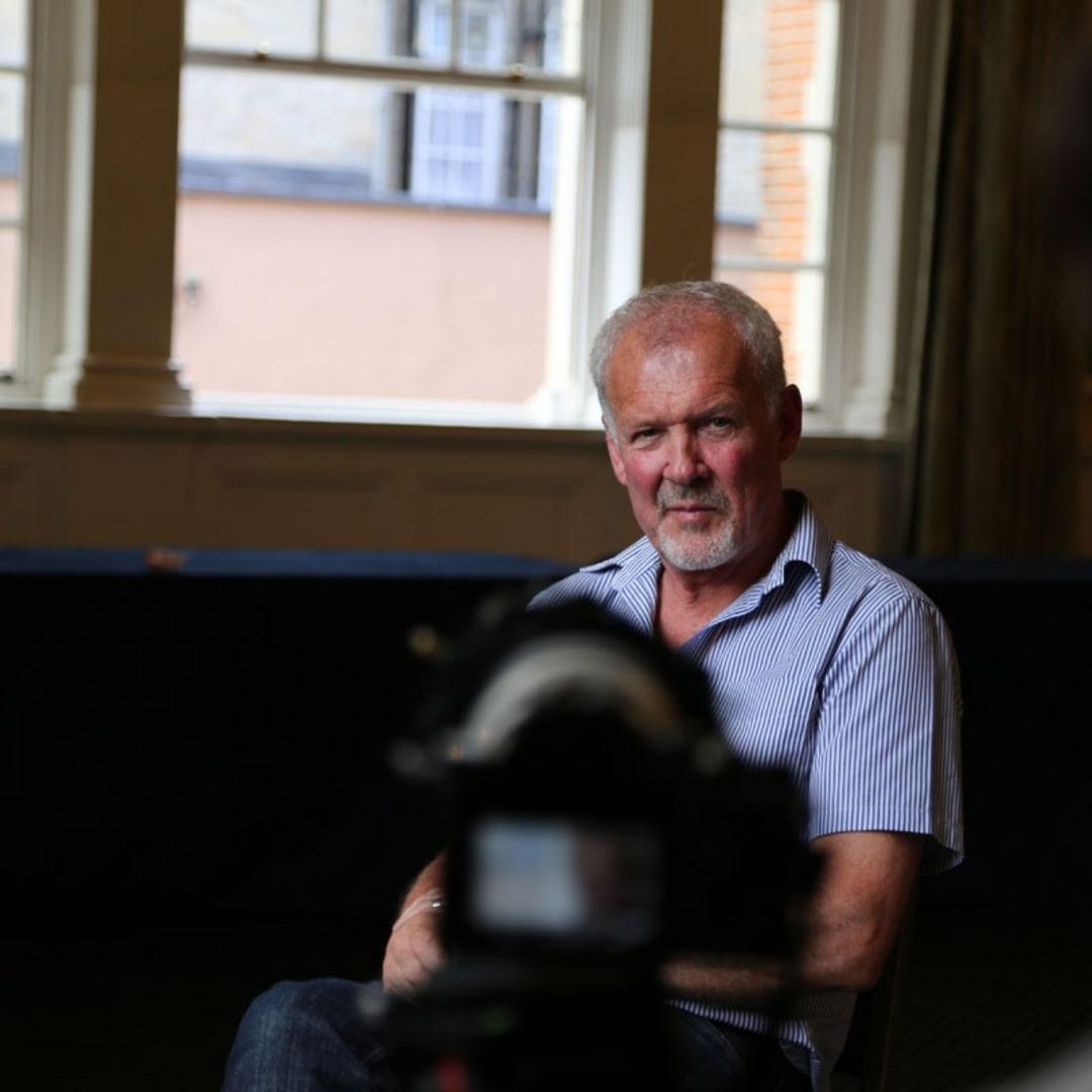 Behind the Scenes of Henjo.tv video, Gerard Byrne interviewed by Sylwia Janik , Pintar Rapido London 2016