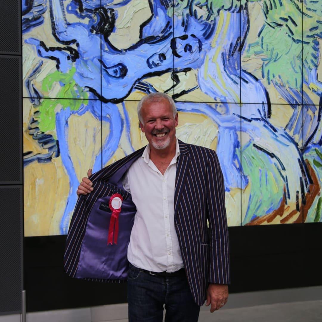 Gerard Byrne visiting Vincent Van Gogh museum Amsterdam, September 2016
