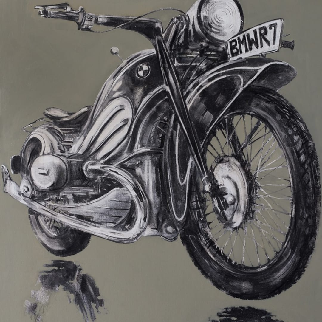 'BMWR7' by Gerard Byrne for Revolution Motorcycle and Art Show, The Observer Building, Hastings