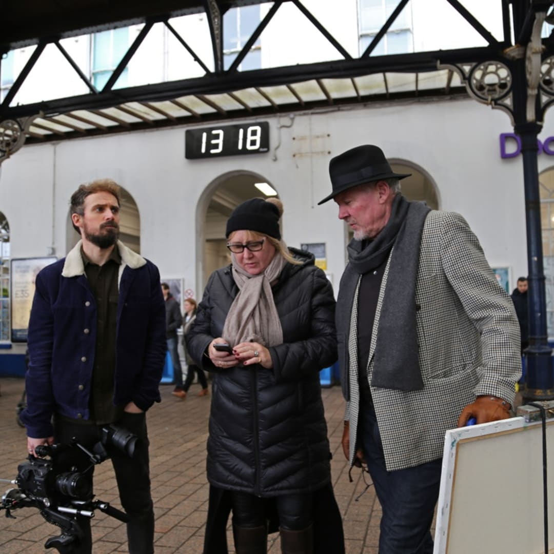 'No two journeys are ever the same' Kirsten Cavendish film, behind the scenes, Brighton Train Station