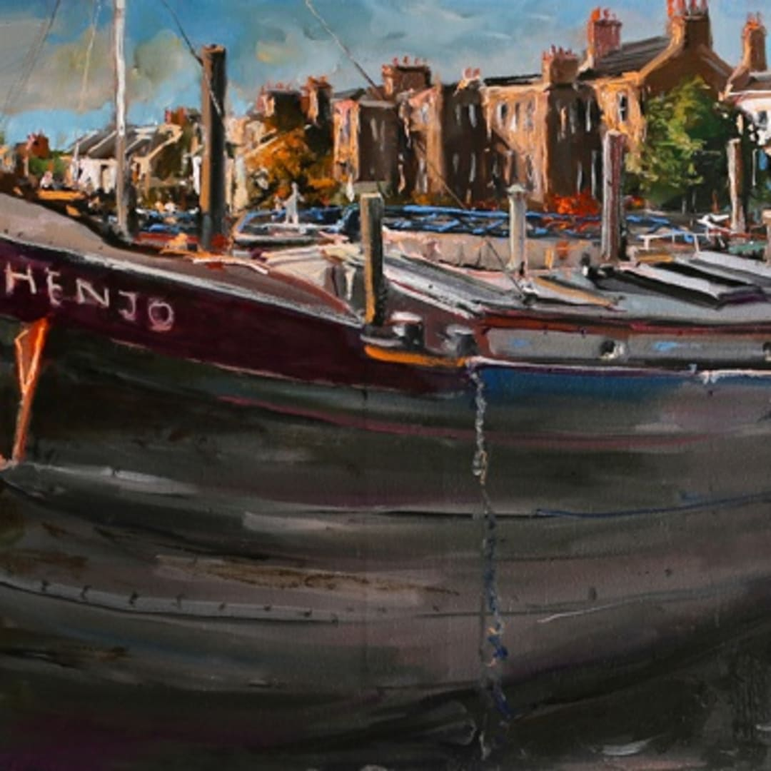 Henjo' plein air painting by Gerard Byrne