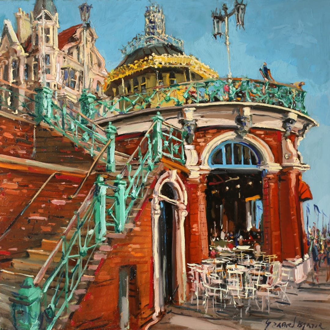 'Victorian Times' plein air painting by Gerard Byrne