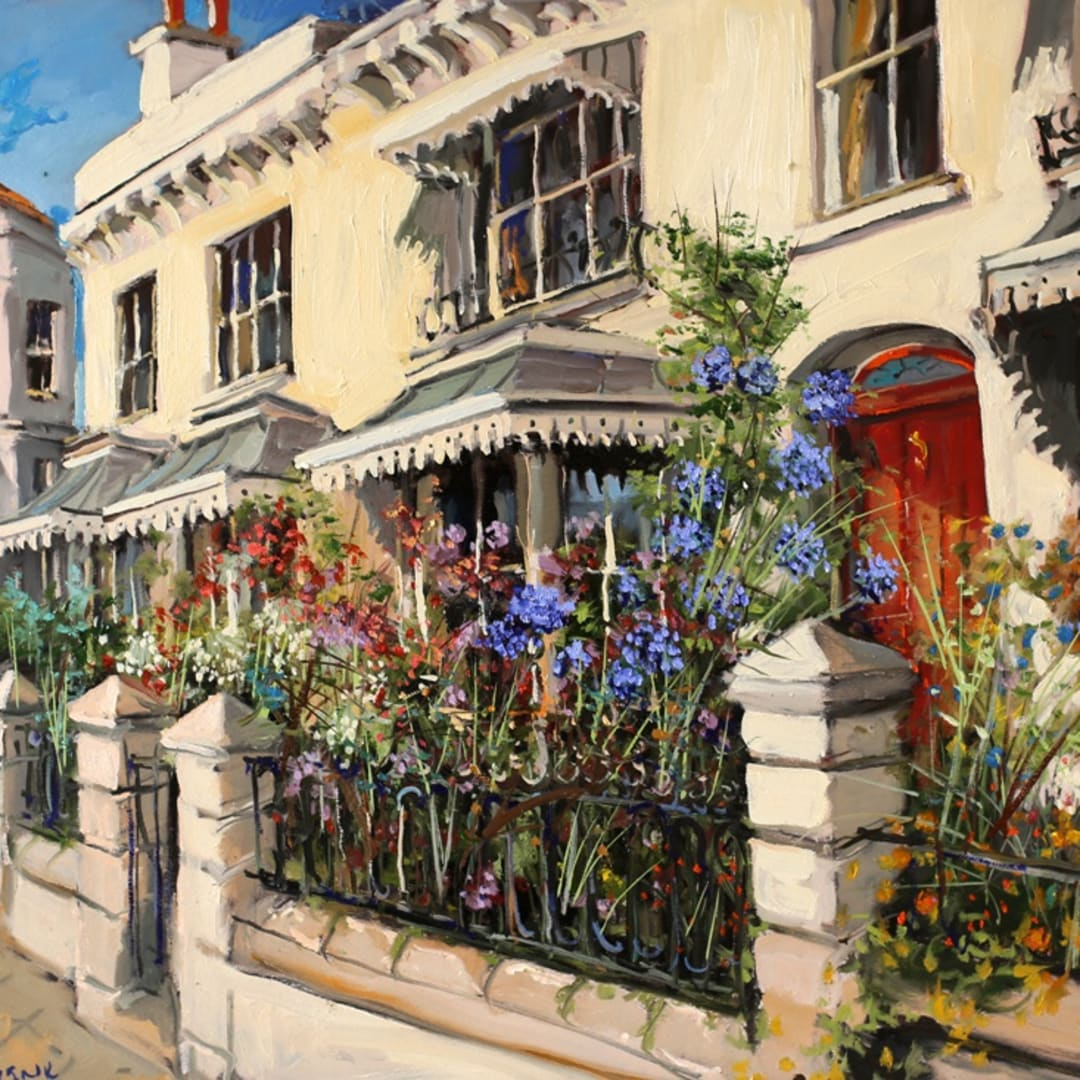'Clifton Gardens' plein air painting by Gerard Byrne, Clifton Terrace, Brighton