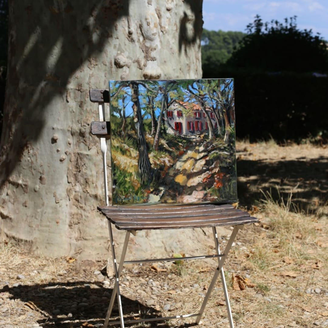 'Shadows of Summer' plein air painting by Gerard Byrne