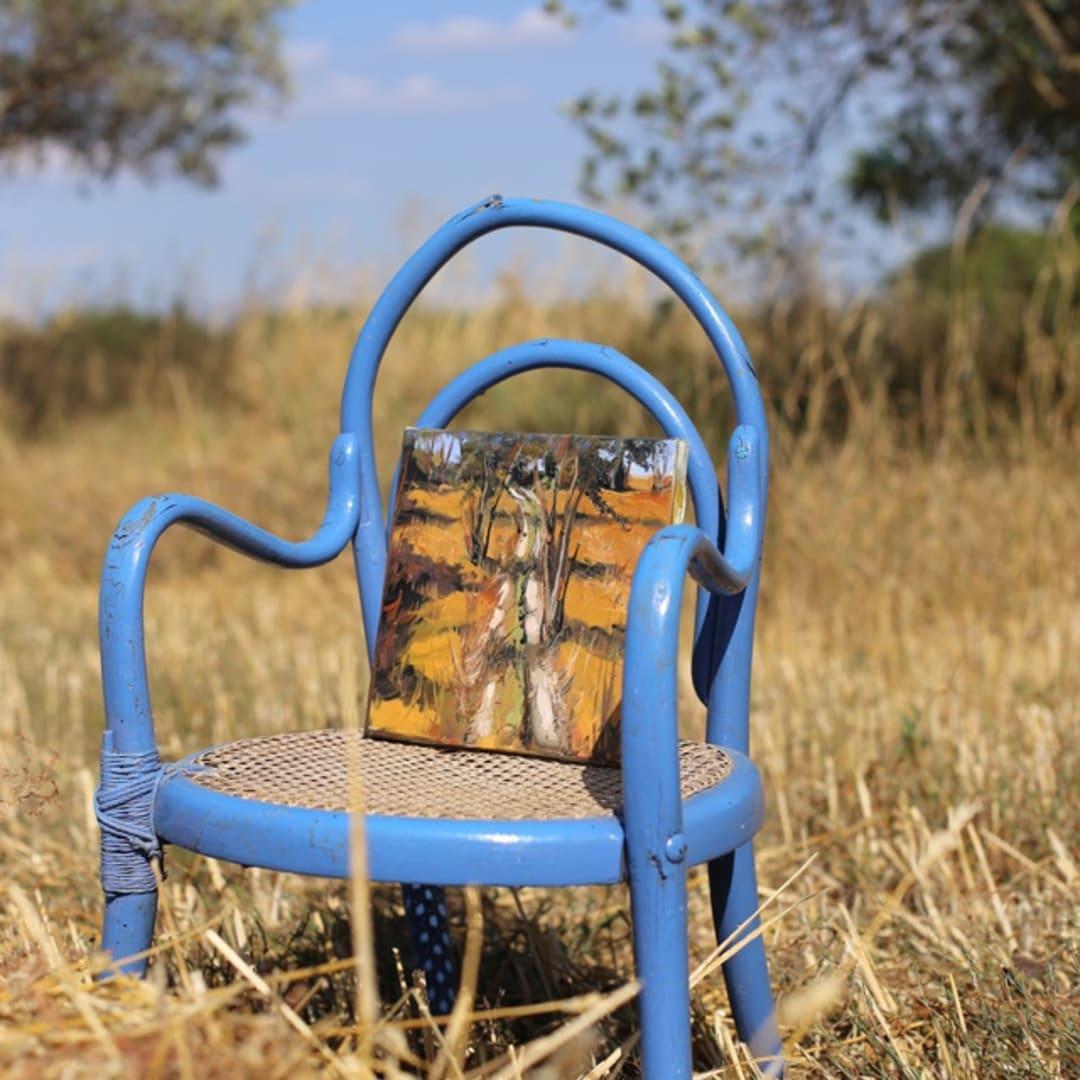 'Wheat Field' plein air painting by Gerard Byrne