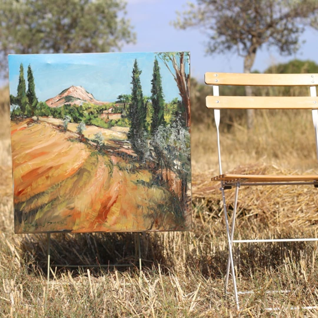 'Under The Provencal Sun' plein air painting by Gerard Byrne
