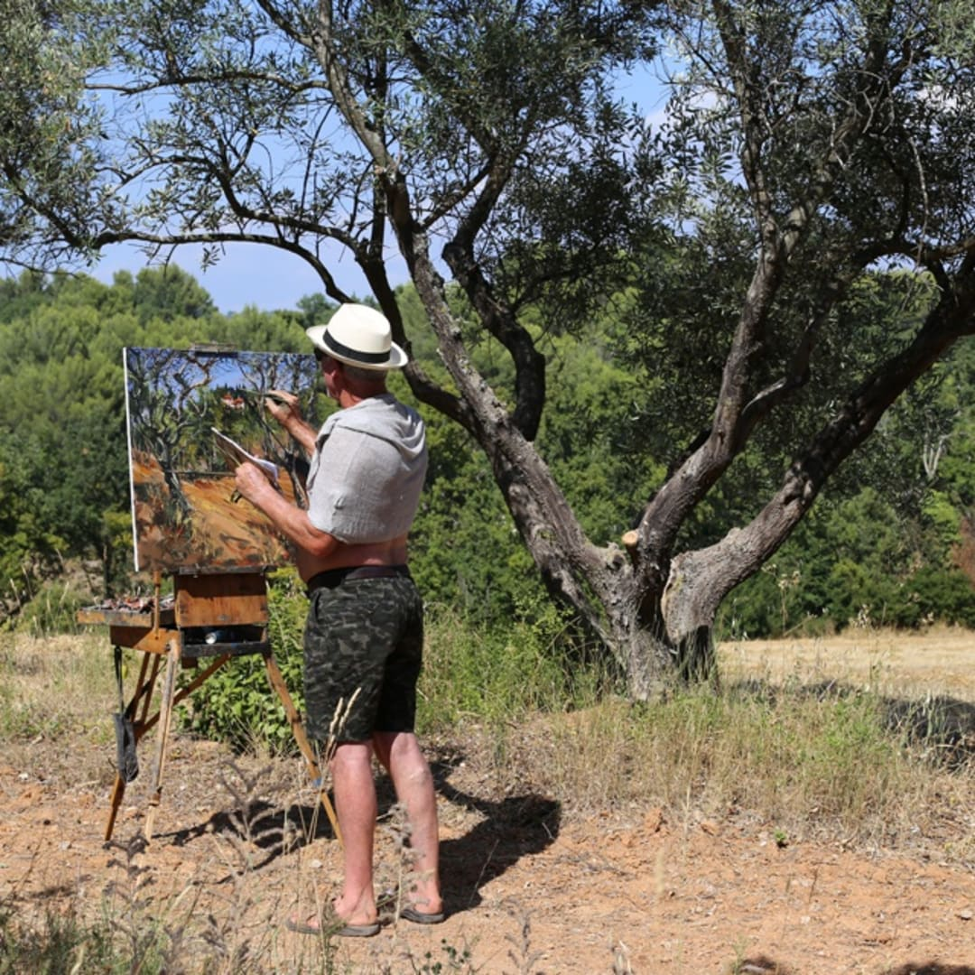 Gerard Byrne painting plein air 'Provence On My Mind'