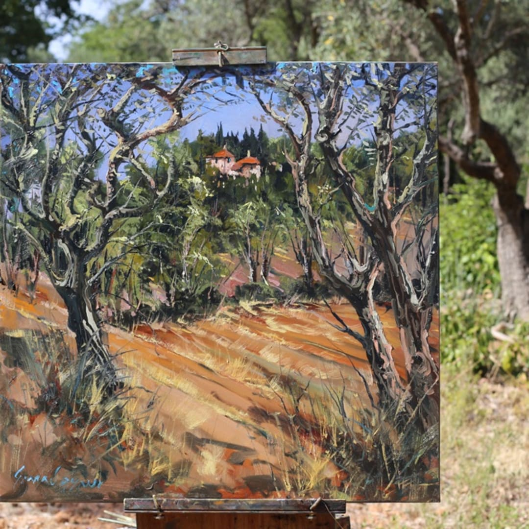 'Provence On My Mind' plein air painting by Gerard Byrne