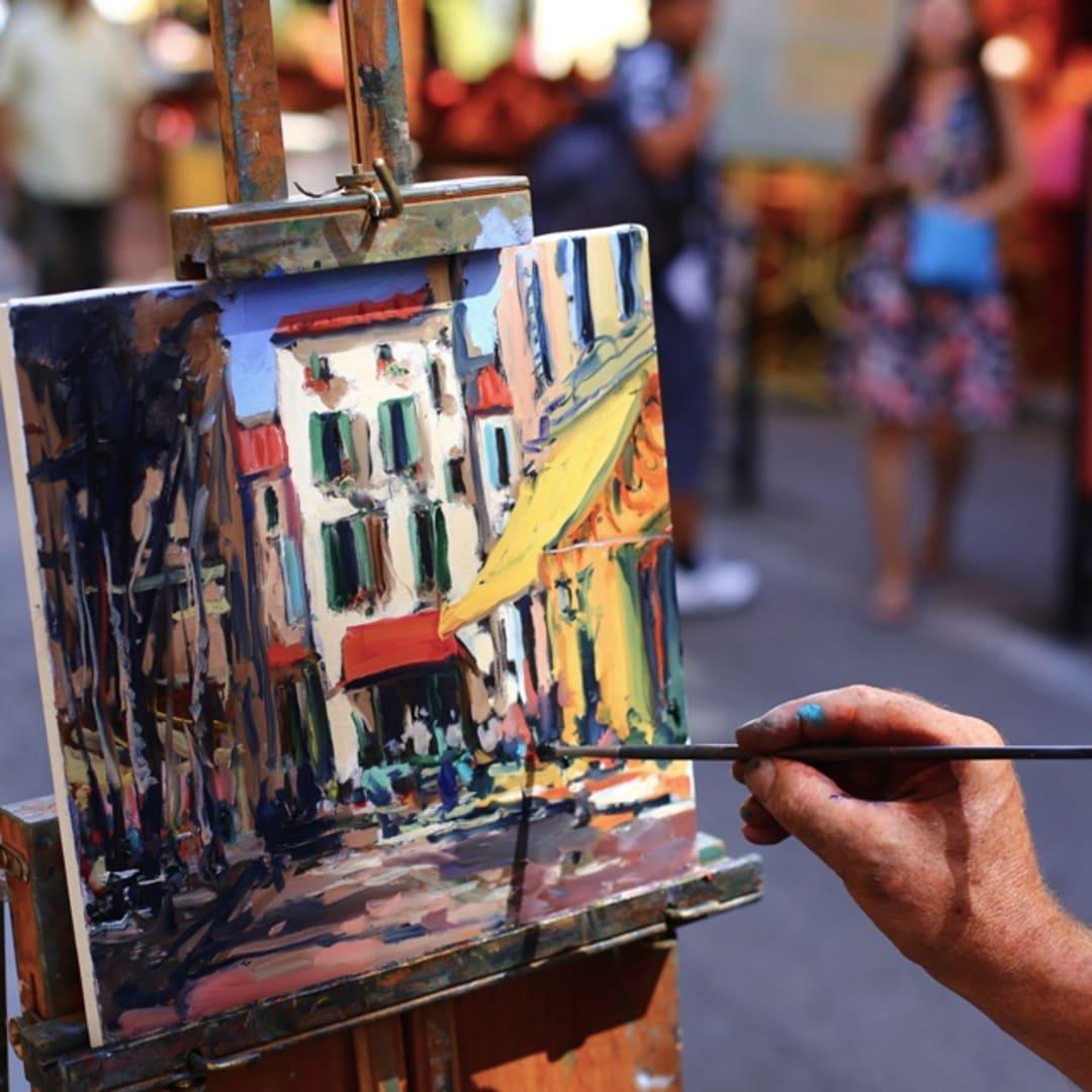 Gerard Byrne painting plein air 'Sunny Afternoon in Arles'
