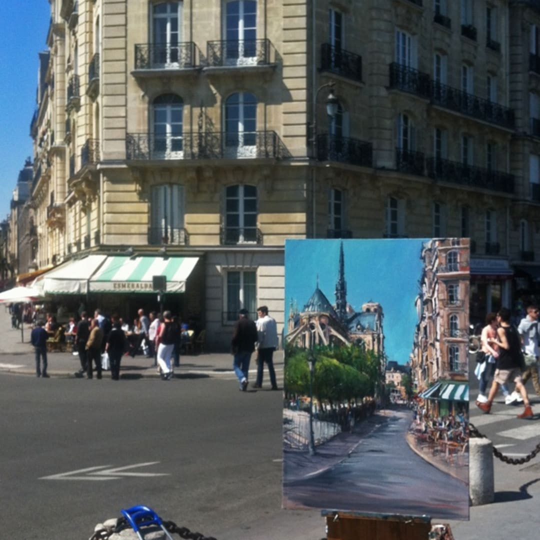 Gerard Byrne painting plein air Paris