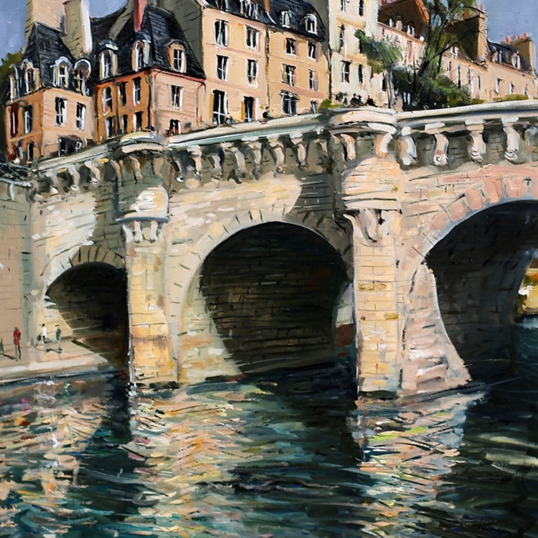 'Afternoon Reflections' plein air painting by Gerard Byrne, Paris