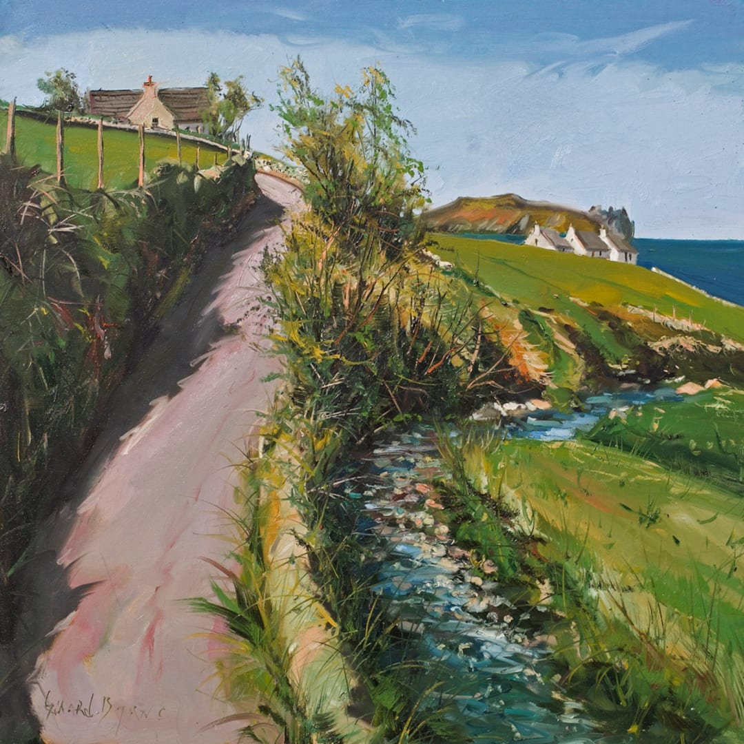 'Country Road' plein air painting by Gerard Byrne, Dingle