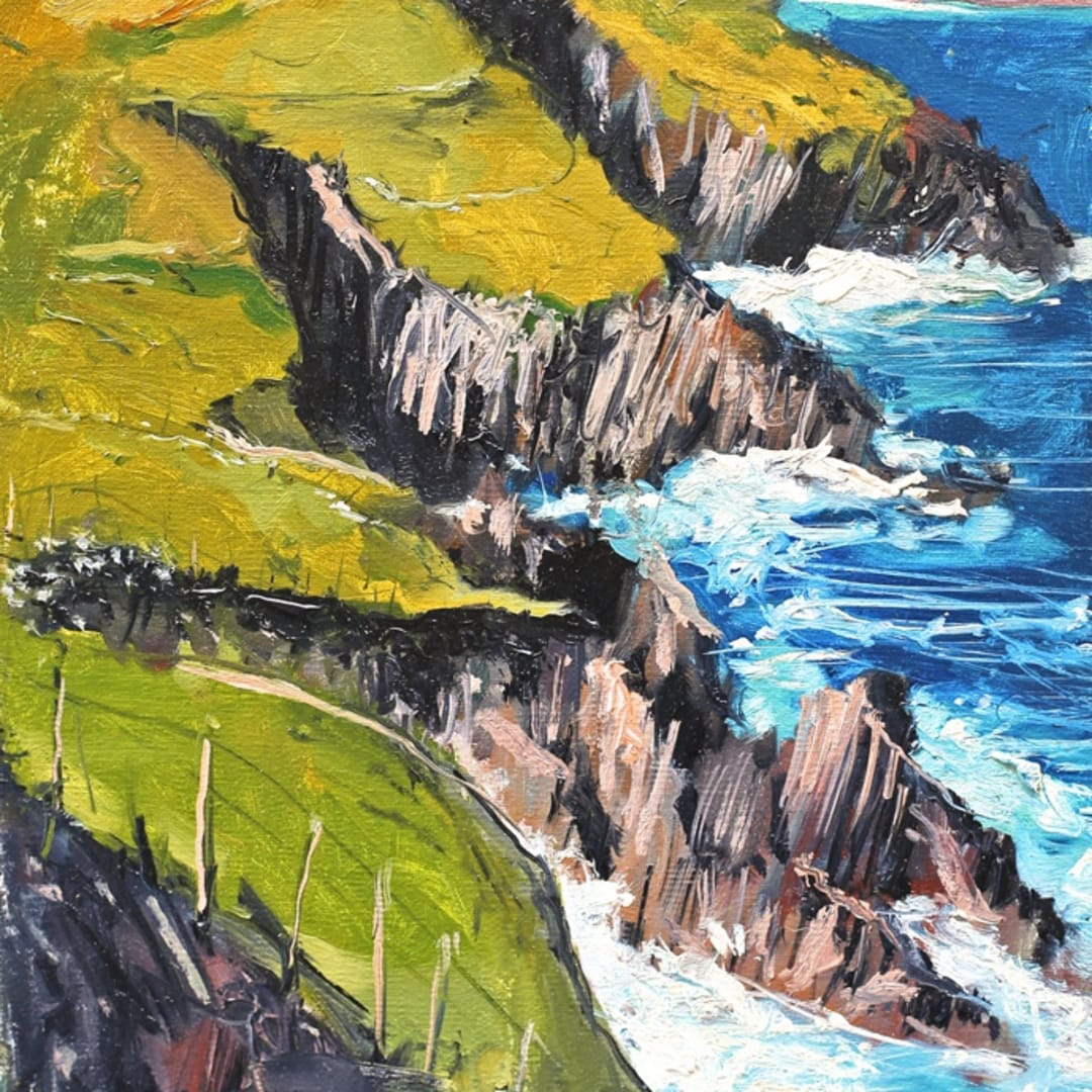 'Seascape I' plein air painting by Gerard Byrne, Dingle