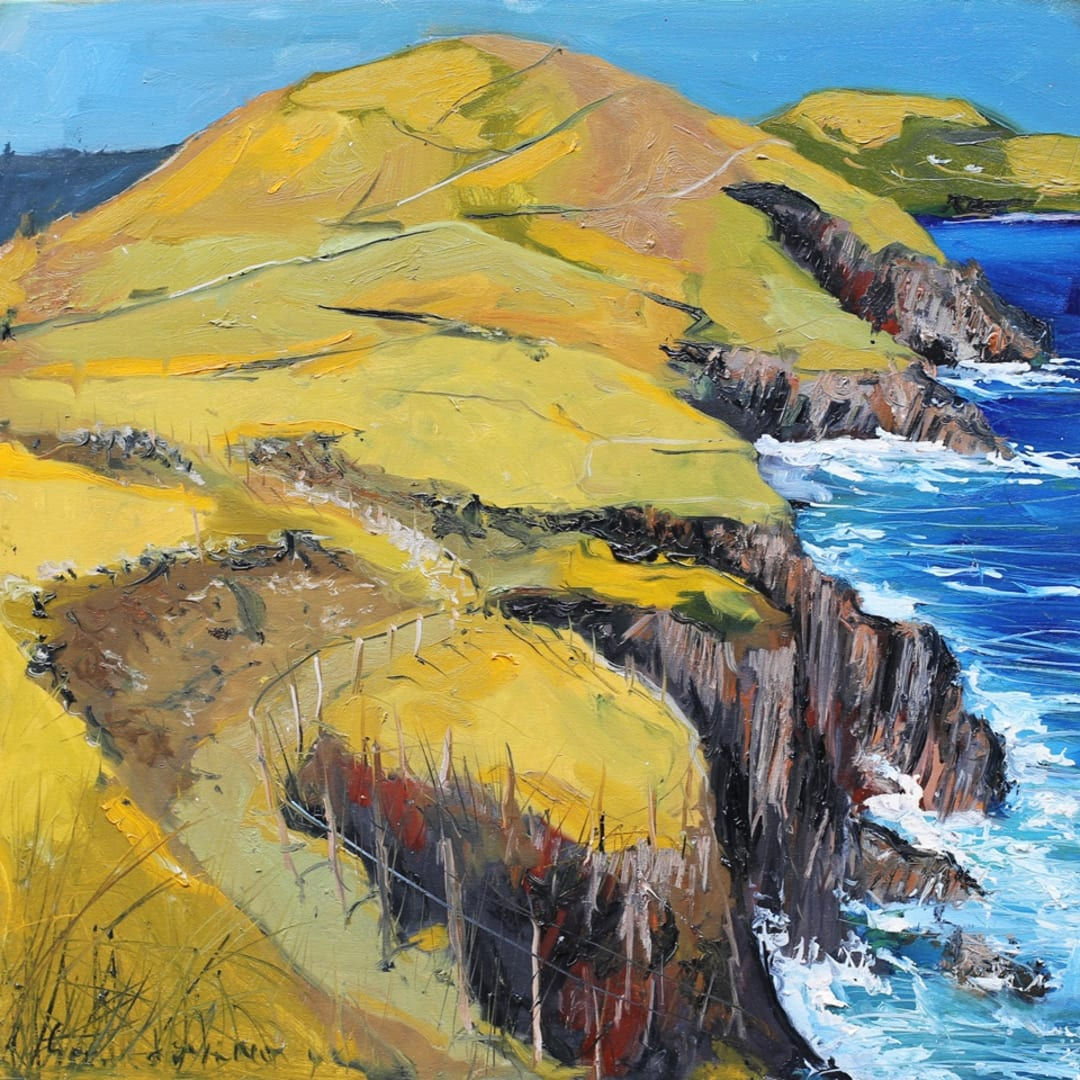 'Seascape II' plein air painting by Gerard Byrne, Dingle