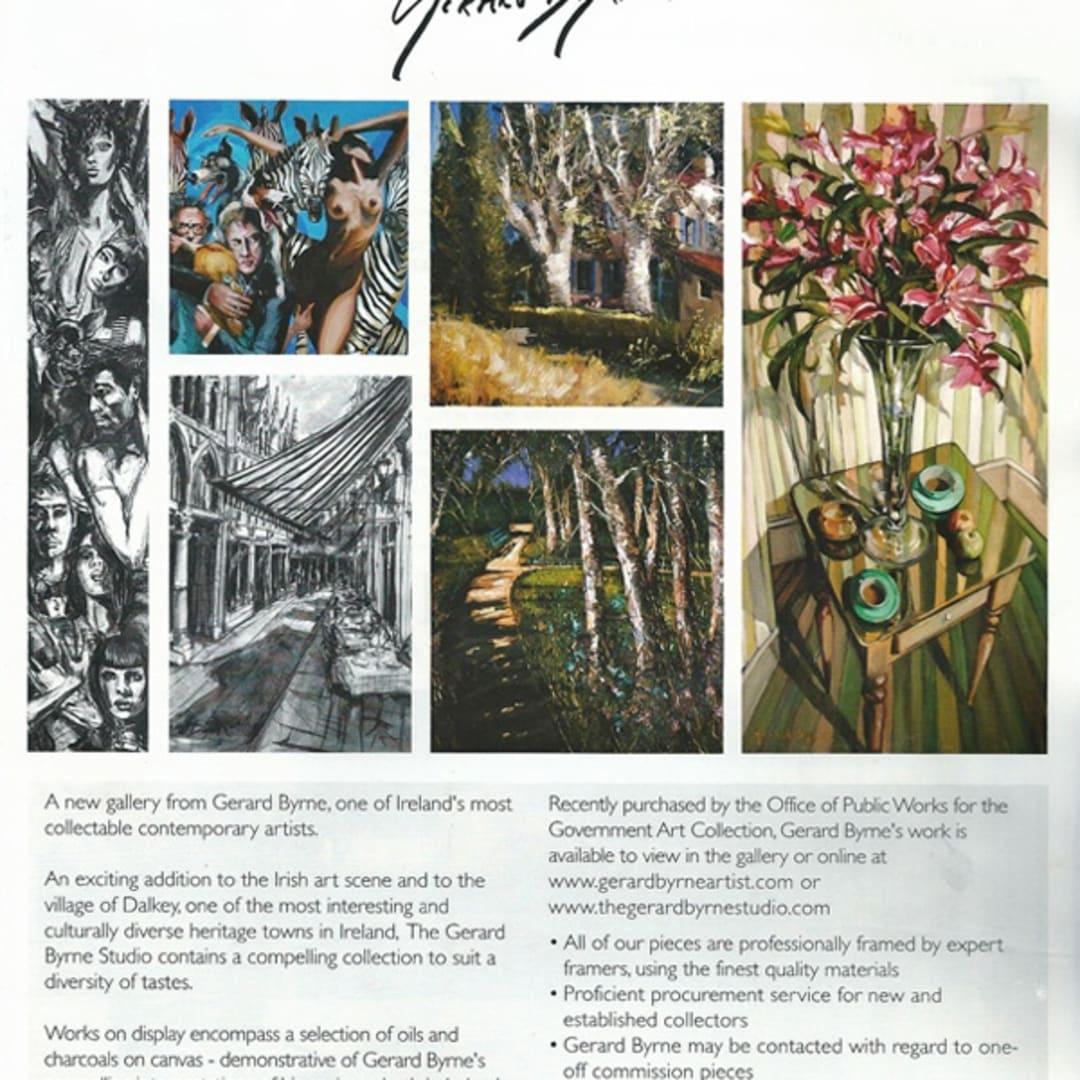 Gerard Byrne Irish Arts Review magazine