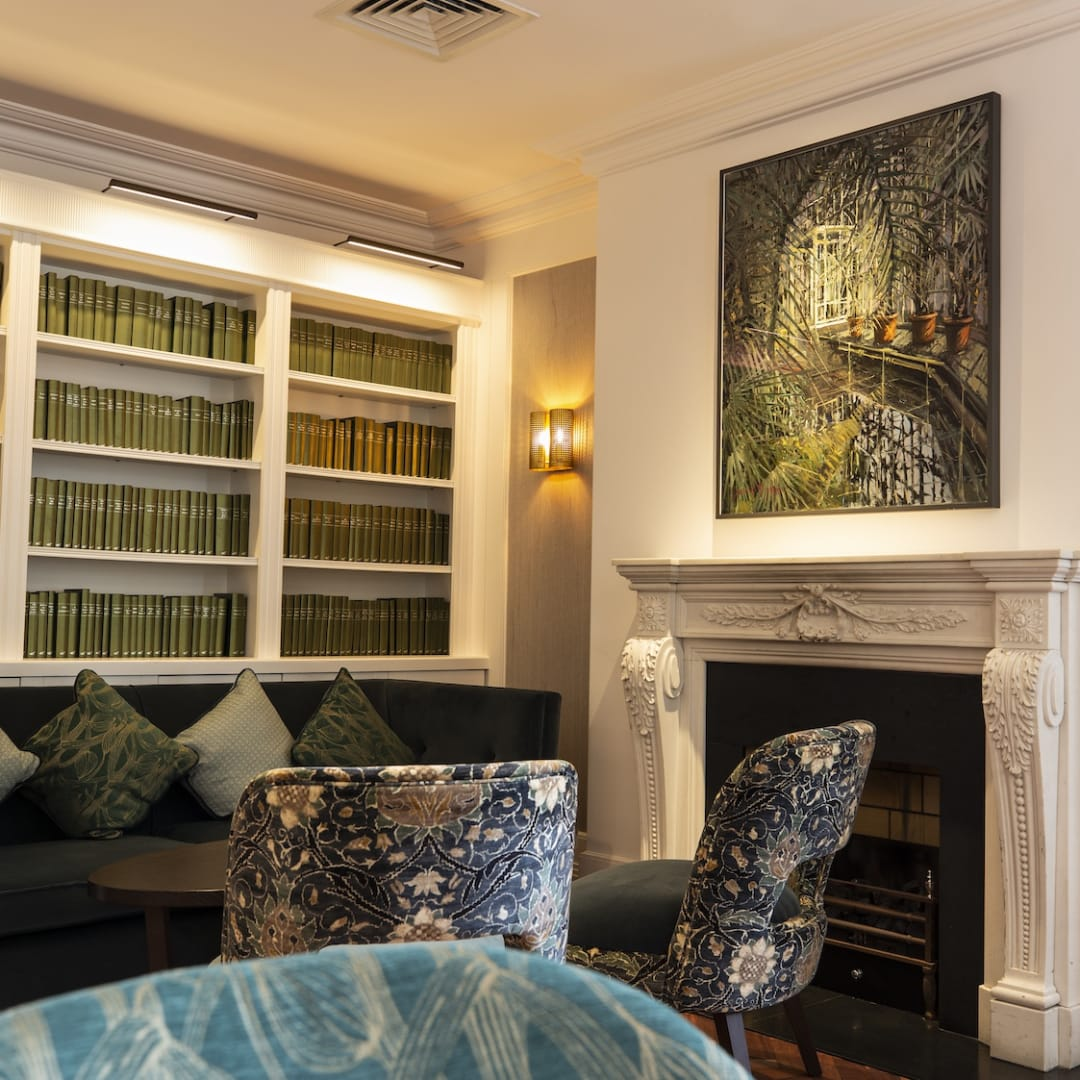 Tropical Reflections' oil on canvas by Gerard Byrne at The Library Dylan Hotel, Ballsbridge. Photo credit: Colm Murphy