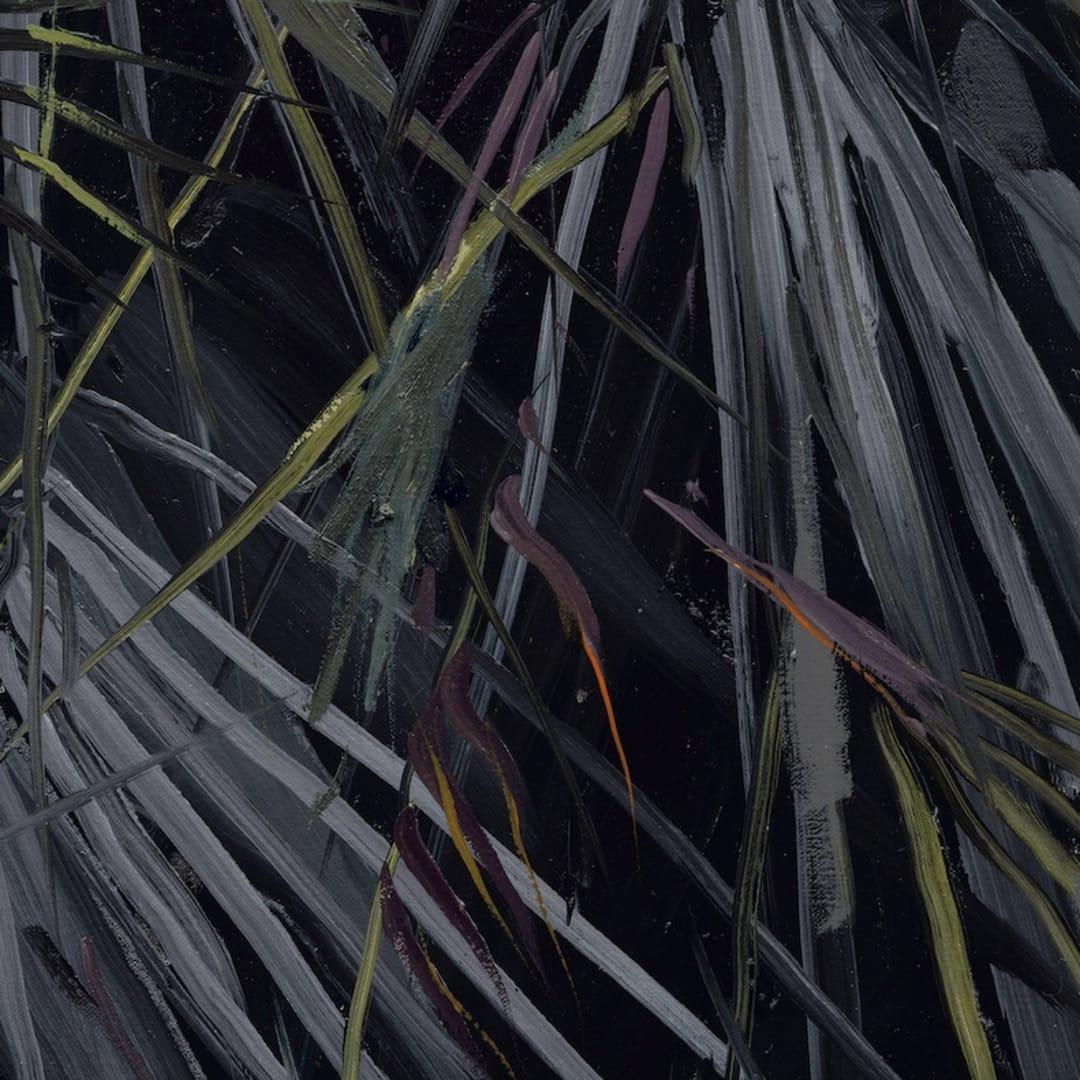 Gerard Byrne 'Botanical Fusion' oil on canvas detail 1
