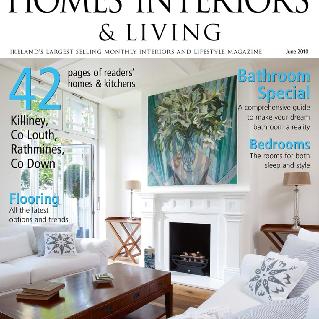 Gerard Byrne, Irelands Homes Interiors and Living June 2010 magazine cover