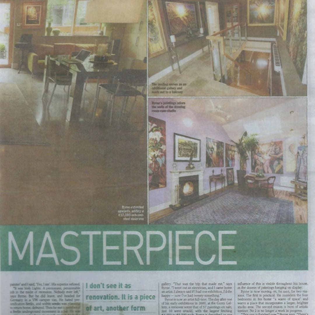 Gerard Byrne The Sunday Times A fair trade masterpiece house Dalkey Irish artist