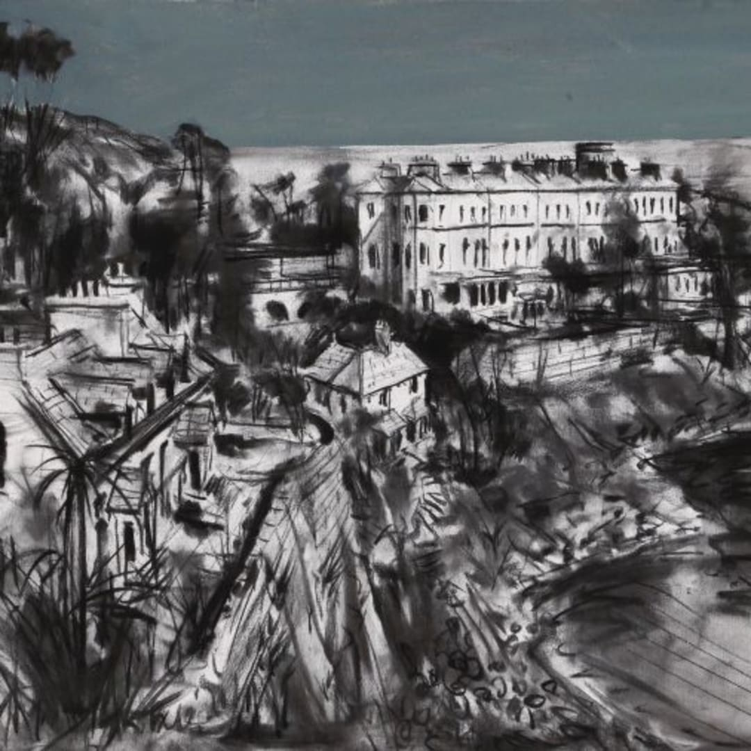 2 Gerard Byrne 'Summer in Dalkey' mixed media on canvas 90x60cm (canvas) / guiding at €4,000 to €5,000