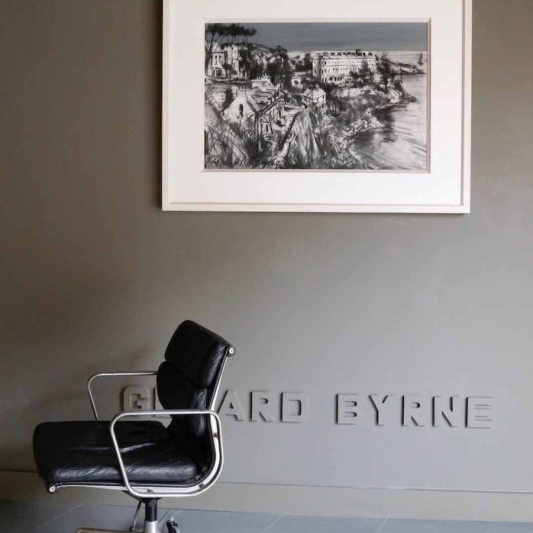 Gerard Byrne 'Summer in Dalkey' mixed media on canvas 122x92cm (framed)