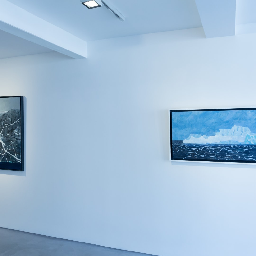 Andrew Lansley, Works from Antarctica, Informality Gallery, Installation view, 2020. Image courtesy of Informality.