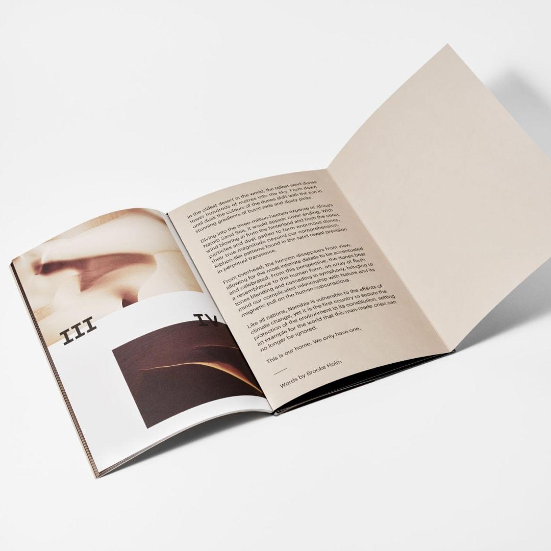 Brooke Holm, Sand Sea publication, inside cover