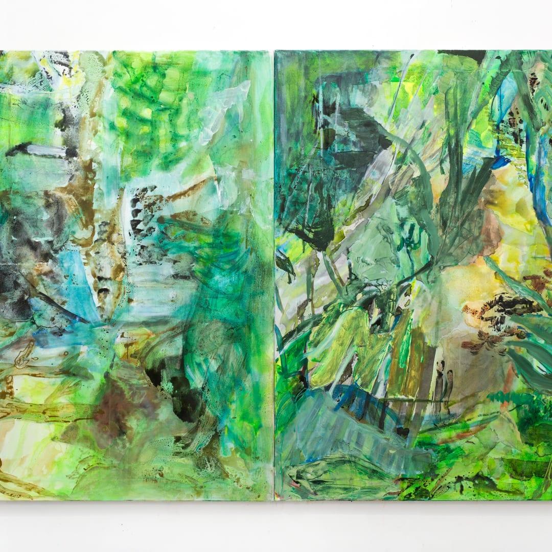 Francesca Mollett Wild Shade 2021, Oil and acrylic on calico 130 x 200 cm