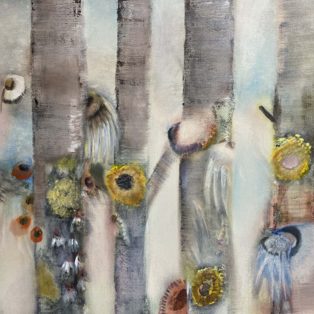 Diane Chappalley The space in Between, 2020 Oil on flax 90 x 120 cm