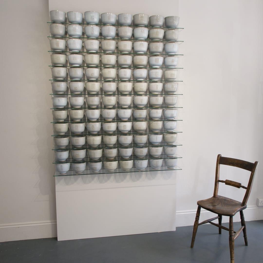Installation of 96 Deep Bowls, 2013