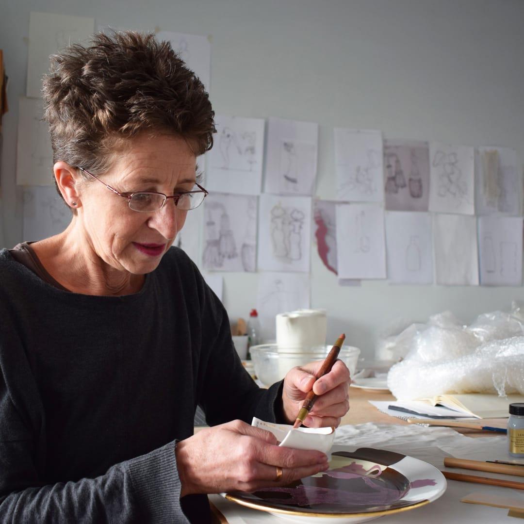 Charlotte Hodes in her London studio, 2018