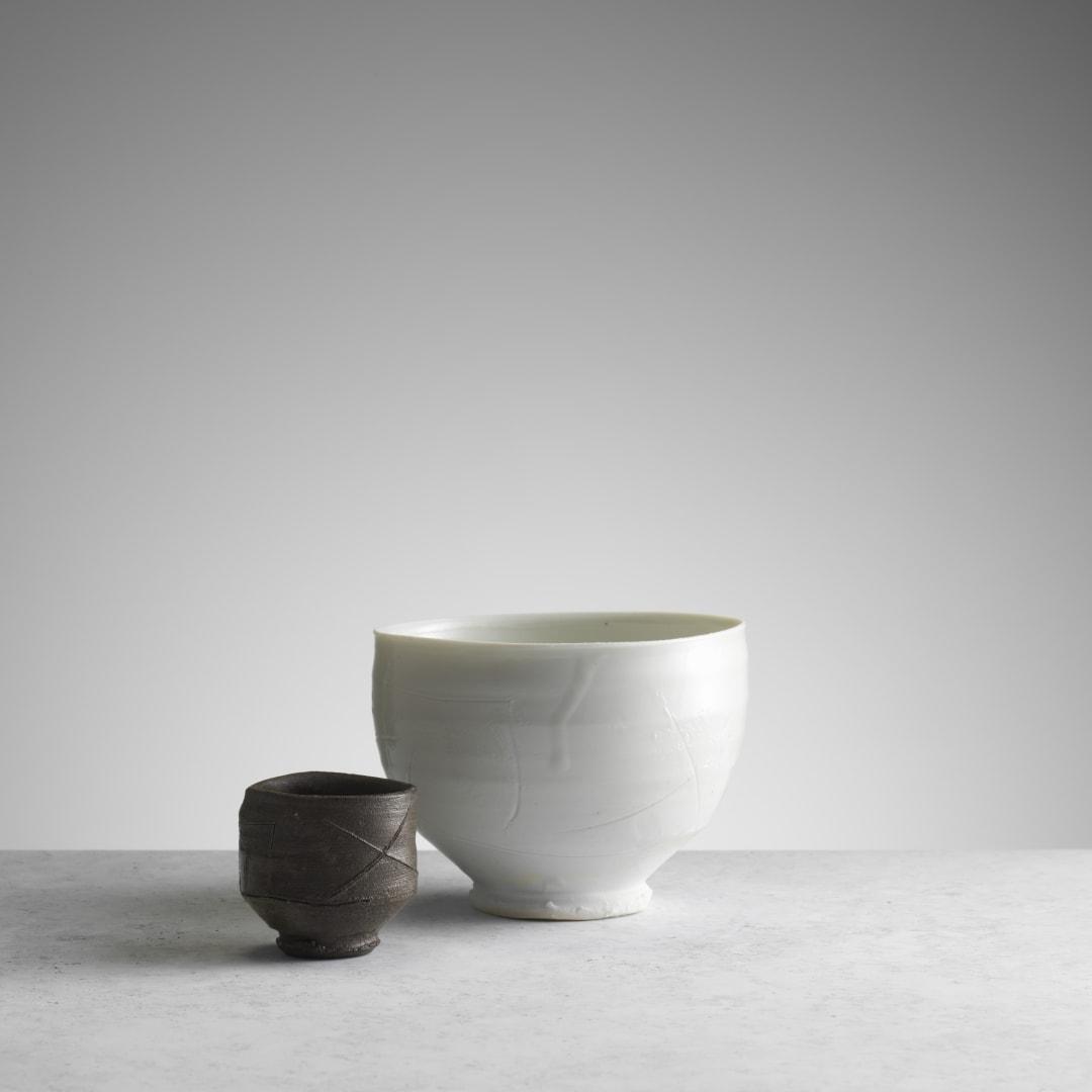 Sake Cup (RK048) and Porcelain Teabowl (RK100) © Michael Harvey