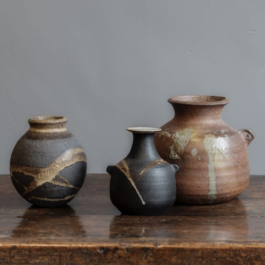 Vase and Vessels by Janet Leach