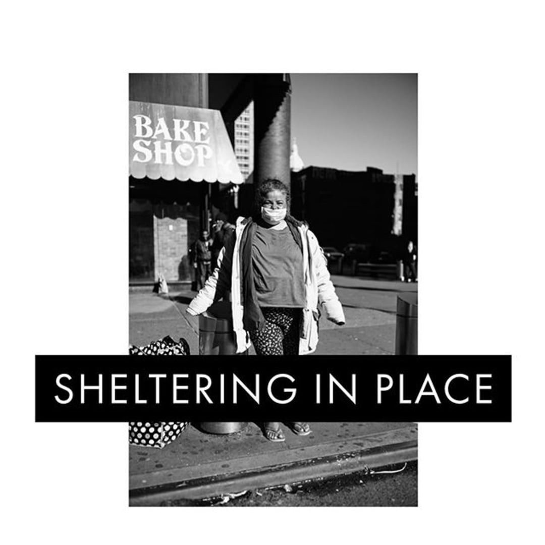 Photo shared by Phil Penman on May 22, 2020 tagging @leica_camera, @nybooks, @magnumphotos, @leicacamerausa, and @insidenatgeo. Image may contain: 1 person, text that says 'BAKE SHOP SHELTERING IN PLACE'