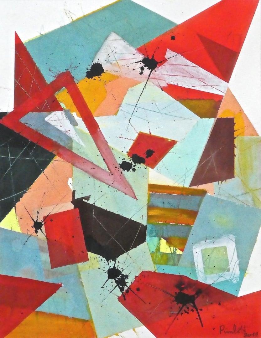 Geoffrey Pimlott RWS, Assymetric Red