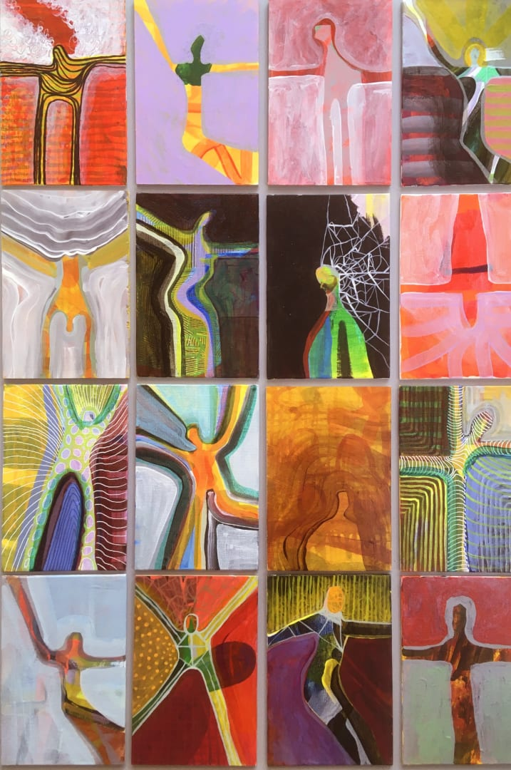 Dale Devereux Barker RE, Sixteen Studies for a Study, acrylic on panel, £600 Framed
