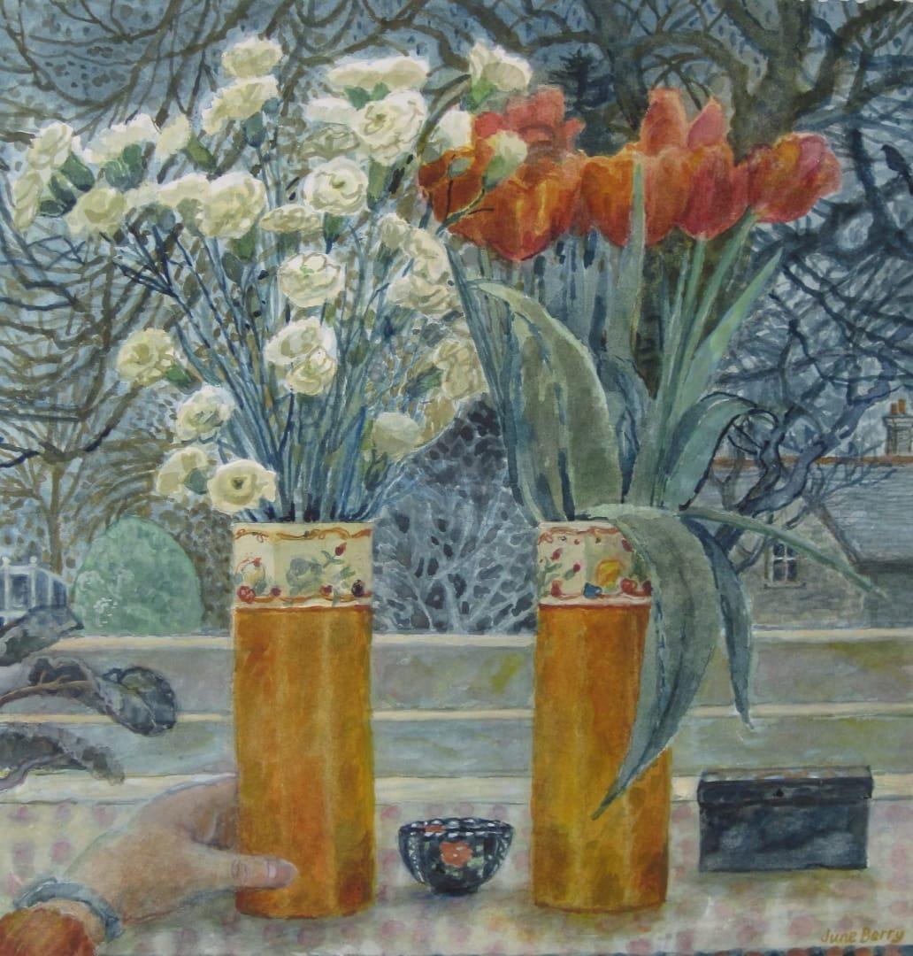 June Berry RWS, Two Vases