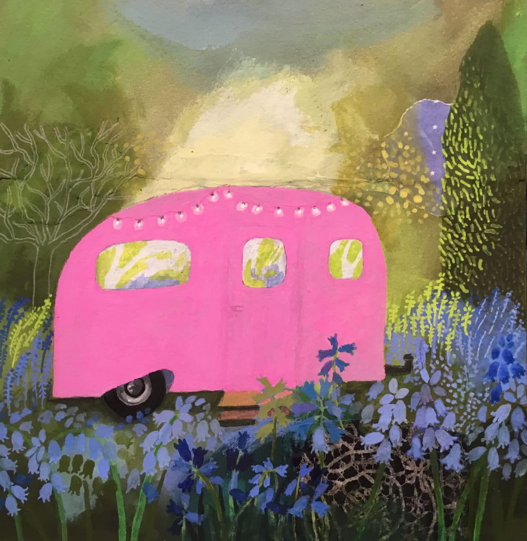 Gertie Young RWS, Caravan Among the Bluebells