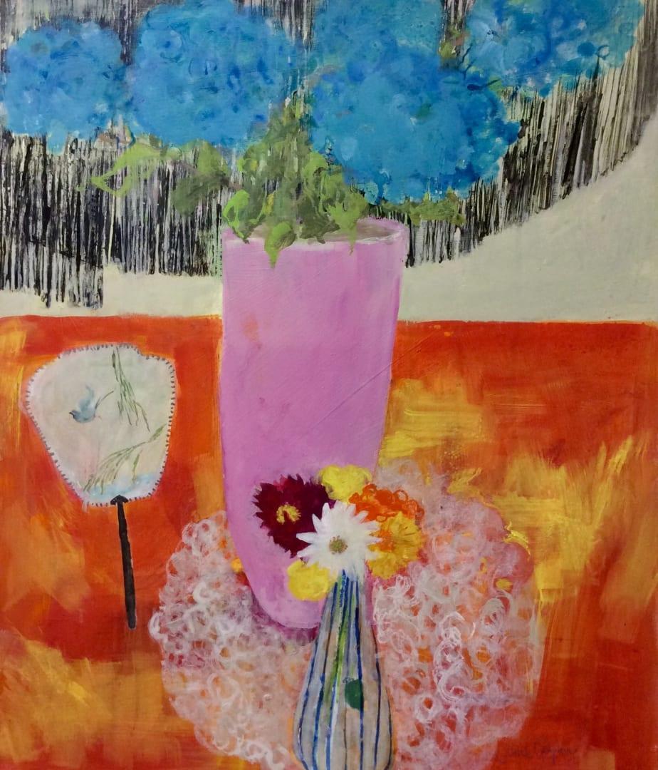 Janet Golphin RWS, Blue Hydrangea
