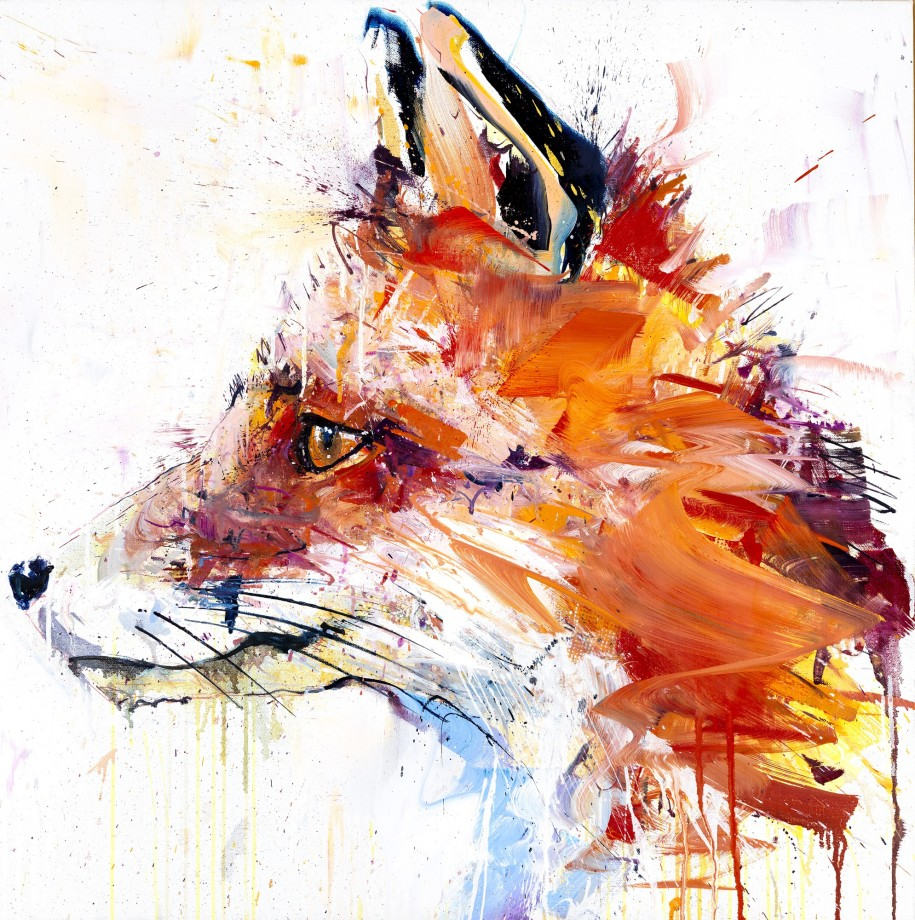 Fox Hand Finished Large Gold Leaf Edition
