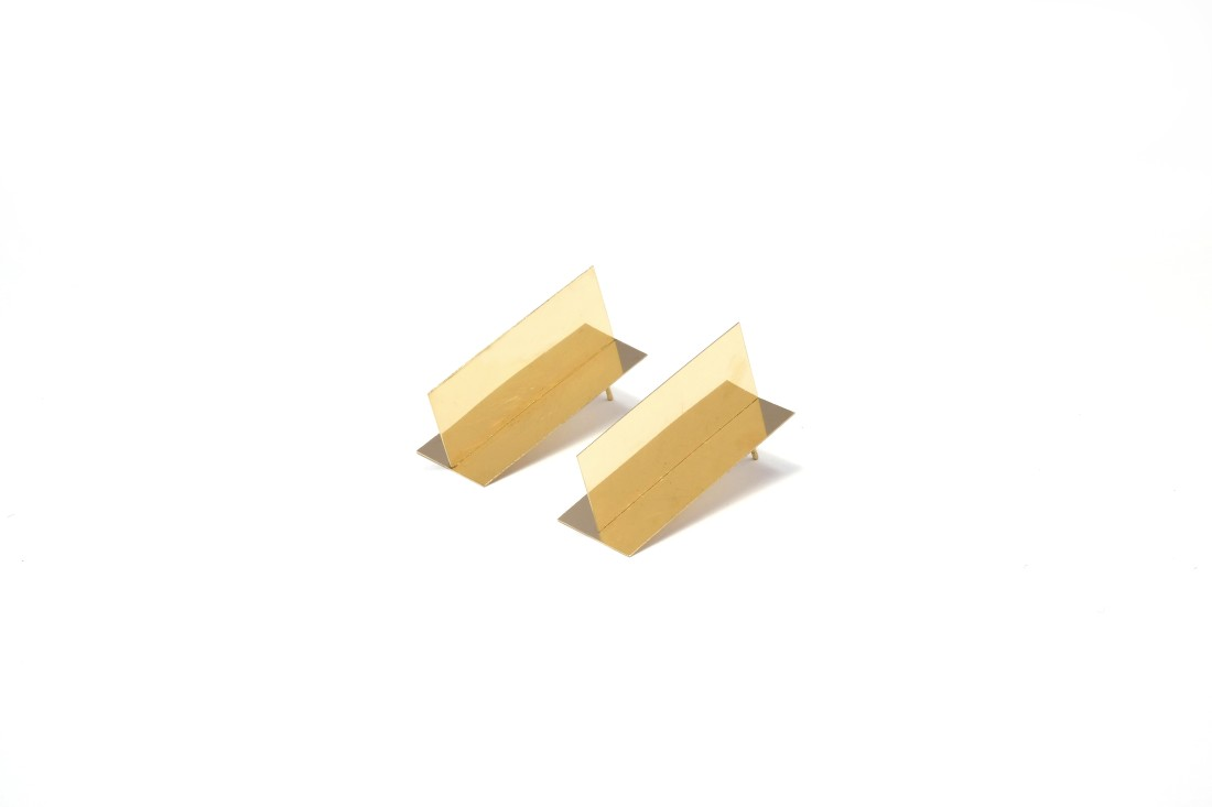 Marc Monzo Blank Earrings, 2015 18ct Gold 40 x 18 x 18mm