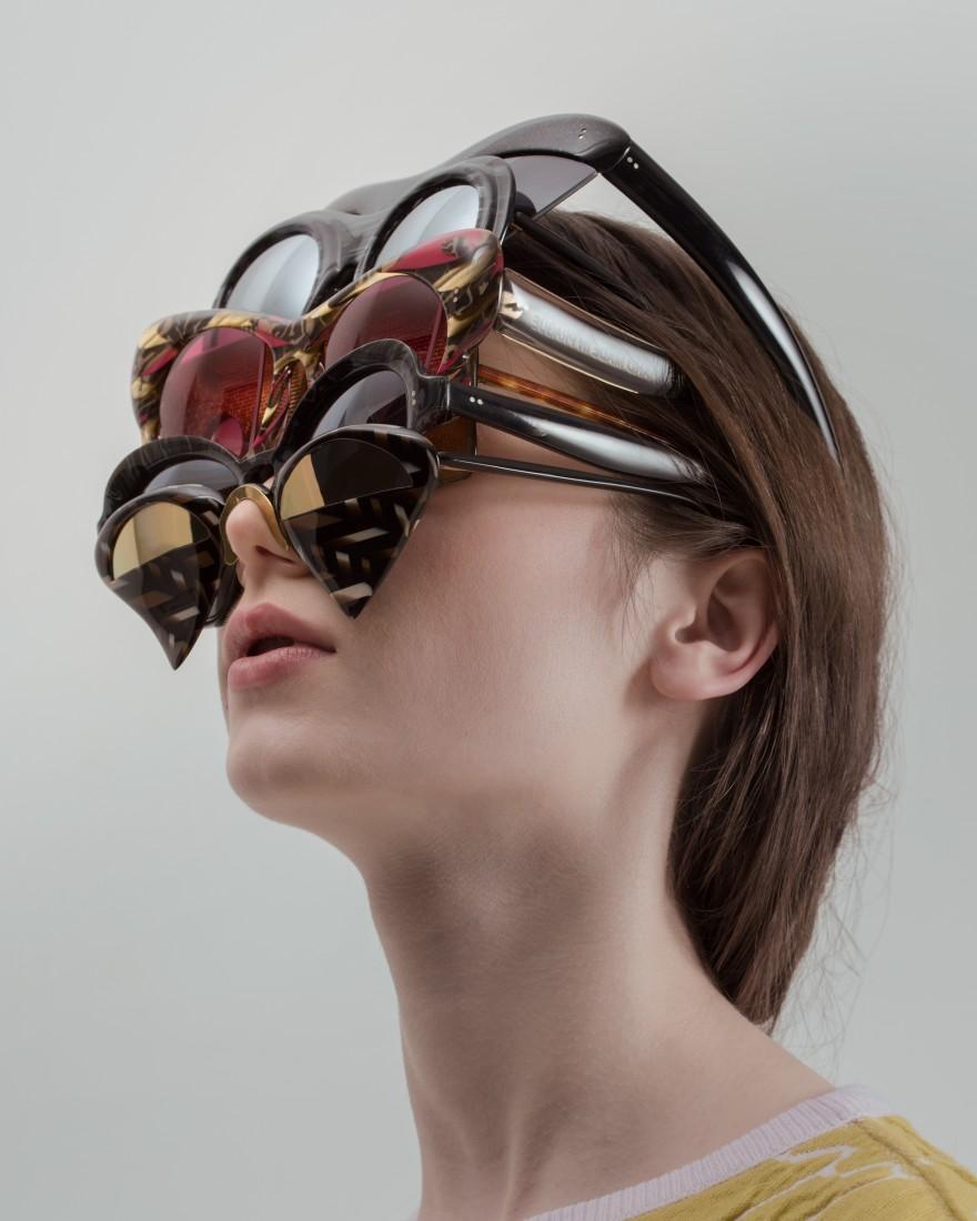 Nasstassia Aleinikava Collection 3 Utopia, 2017 eye-wear Photo: Vojtech Veskrna