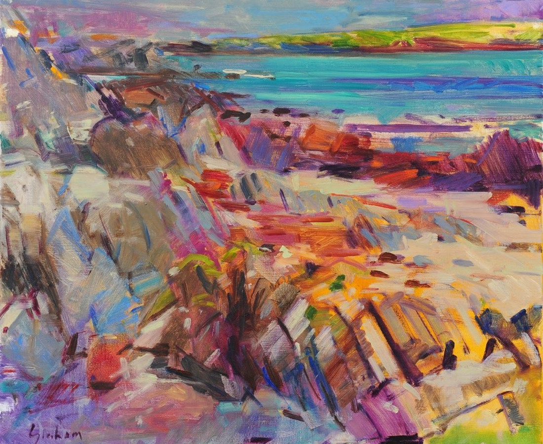Peter Graham, Iona View to Little Colonsay