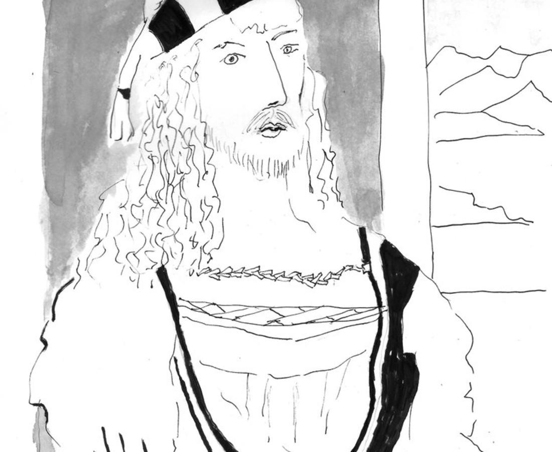 Jerry Wellman, Self-Portrait after Albrecht Dürer, 2017