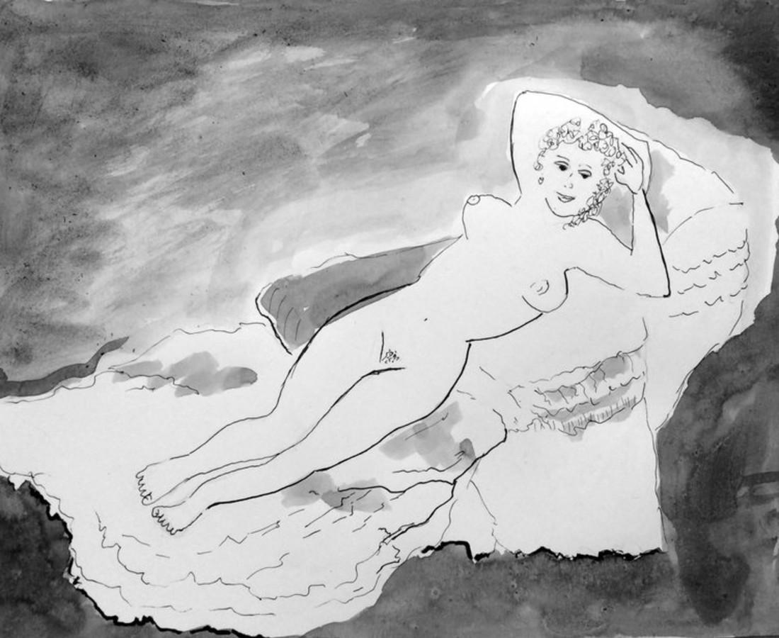 Jerry Wellman, The Naked Maja after Francisco de Goya, 2017