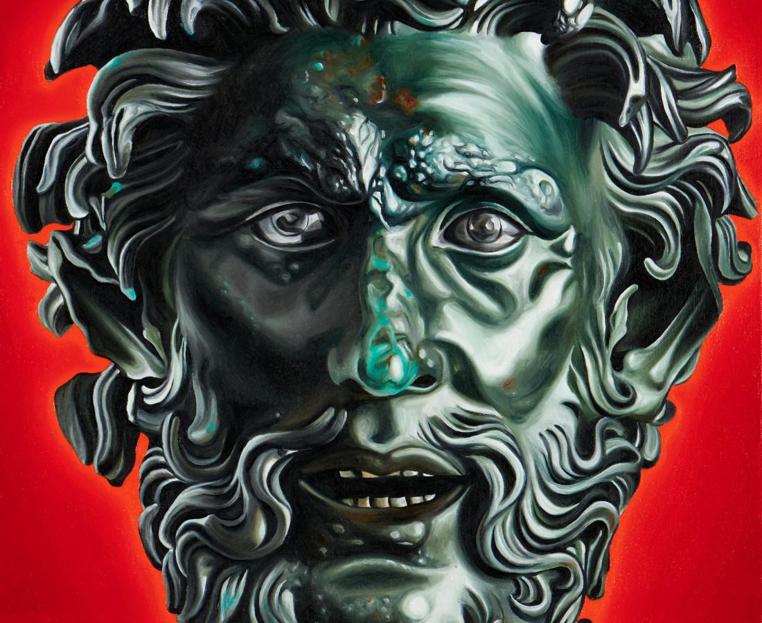 Jake Scharbach, Centaur Head of Schwarkenacker, Roman copy, 200 B.C. - Roemermuseum, 2018