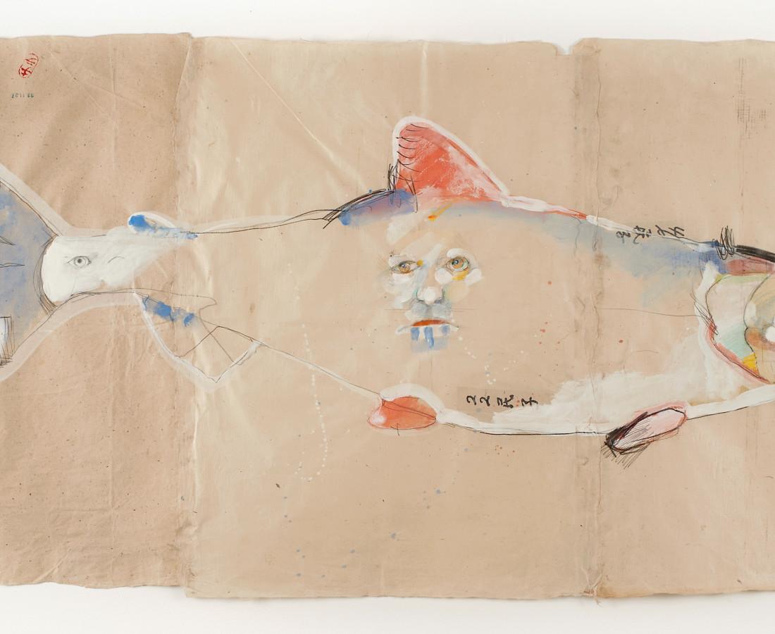 Rick Bartow, Autumnal Metaphor 6, Salmon, 2014