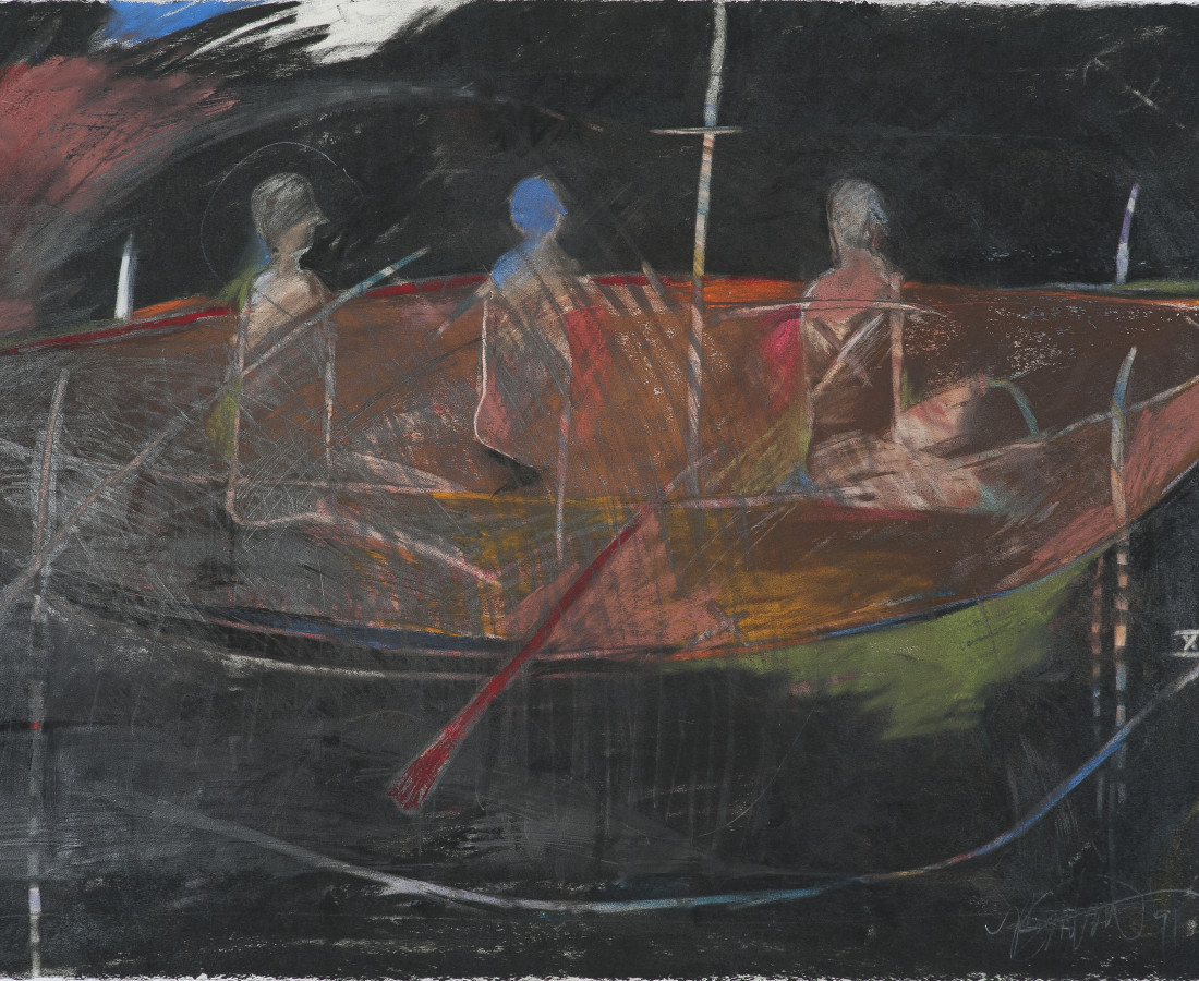 Rick Bartow, The Vessel Needn't Move, 1991